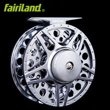 5/6 90mm/3.54″ 2BB+1RB METAL fly fishing reel LARGE ARBOR design PRECISION MACHINED from BAR-STOCK w/ click aluminum fish wheel