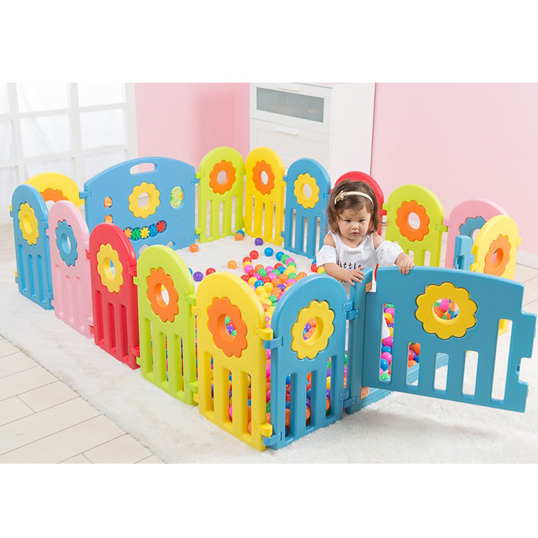 2018 New Design Sunflower Colorful Kids Baby Safe Play Fence Environmental Protection Space Baby Activity Game Fence Playpen цена 2017