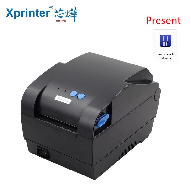Code à barres autocollant imprimante étiquette adhésive imprimante code-barres imprimante thermique port USB QR Code reçu petite imprimante de tickets