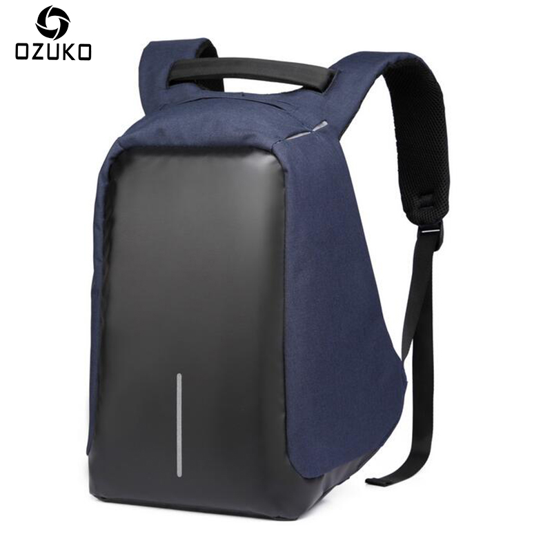 OZUKO Fashion Anti-thief Backpacks Men's Casual USB Charge Laptop Backpack for Women Men Student School Bags Male Travel Mochila kunzite 5 pc set men and women backpacks casual travel backpack mochila teenagers women student school book bags laptop backpack
