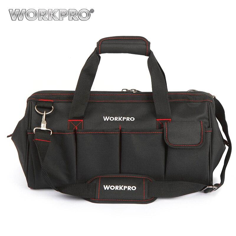 Bolsas de viaje a prueba de agua WORKPRO bolso bandolera para hombre bolsa de herramientas bolsa de gran capacidad para herramientas Hardware envío gratis