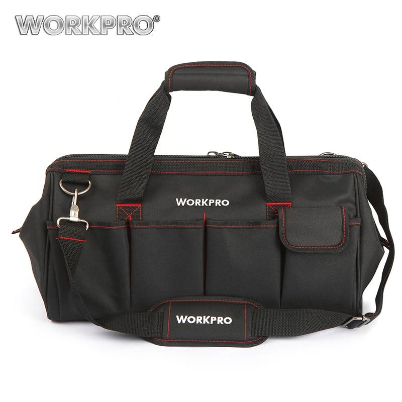 WORKPRO Водонепроницаемый дорожные сумки Для мужчин Кроссбоди мешок инструмента сумки большой Ёмкость сумка для аппаратных средств Бесплатная доставка