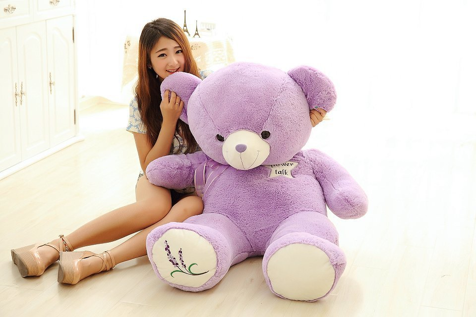 Valentine's Day filling toy large 120cm purple teddy bear plush toy hugging pillow birthday gift w5222 filling toy so large 220 cm green crocodile plush toy soft throw pillow valentine s day birthday gift w5395