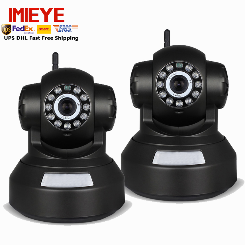IMIEYE 2 pcs/lot 720 P IP Wifi Caméra Sans Fil de Surveillance Pan Tilt Zoom CCTV Home Security Mini Cam TF Carte D'enregistrement D'alarme vidéo