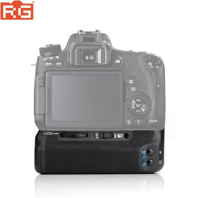 (مايكا) MK 760D الرأسي قبضة بطارية حامل لكانون 750D 760D LP E17 كما BG E18 ، بطارية الكاميرا مقبض لكانون 750D 760D