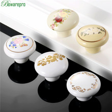 hot deal buy bowarepro furniture knobs ceramic drawer knob cabinet pulls cabinet cupboard pull handle children furniture hardware 38mm 1pc