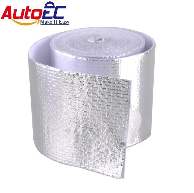 """1-1/2 """"de Largura x 15' Envoltório Escape 5 m/piece Reforçado Fita de Alumínio Resistente Ao Calor Escudo Adhesive Backed Envoltório prata # LQ381"""