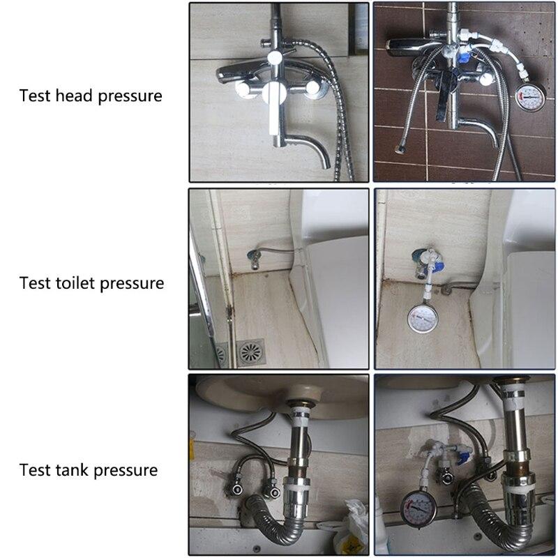 2в1 очиститель воды водопроводные трубы манометр Тест метр 0-1.6MPA антивибрационный #0615
