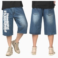Military men Calf Length Pants plus size pocket straight mens shorts hiphop men's short jeans casual short trousers multi