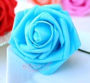 500 шт. X(6 см) один Пена розовыми цветами стволовых в 12 различных Цвета для выбора свадебные цветы.* по EMS - Цвет: sky blue