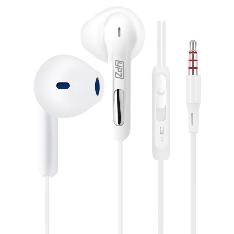 YPZ S6 3.5mm Jack Bass Earphone For iPhone 6 6S 5 5S In-Ear Earbud With Microphone White Headset For Apple Xiaomi SAMAUNG sony original xiaomi mi hybrid earphone in ear 3 5mm earbuds piston pro with microphone wired control for samsung huawei p10 s8