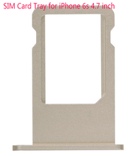 Guarantee Original SIM Card Tray For iPhone 6S 4 7 inch Gray Gold Silver Rosegold Sim