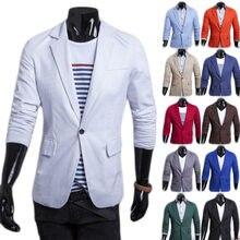 183b21cd379534 Männer Blazer 2019 Neue Ankunft Single Button Trendy Herren Blazer Slim Fit  Leinen Anzüge Koreanische Mode Rot Weiß Blazer Jacke.