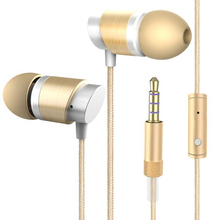 New arrival Pure cotton wired in-ear Earphone With Microphone For handsfree Call Portable ear buds for Iphone Android