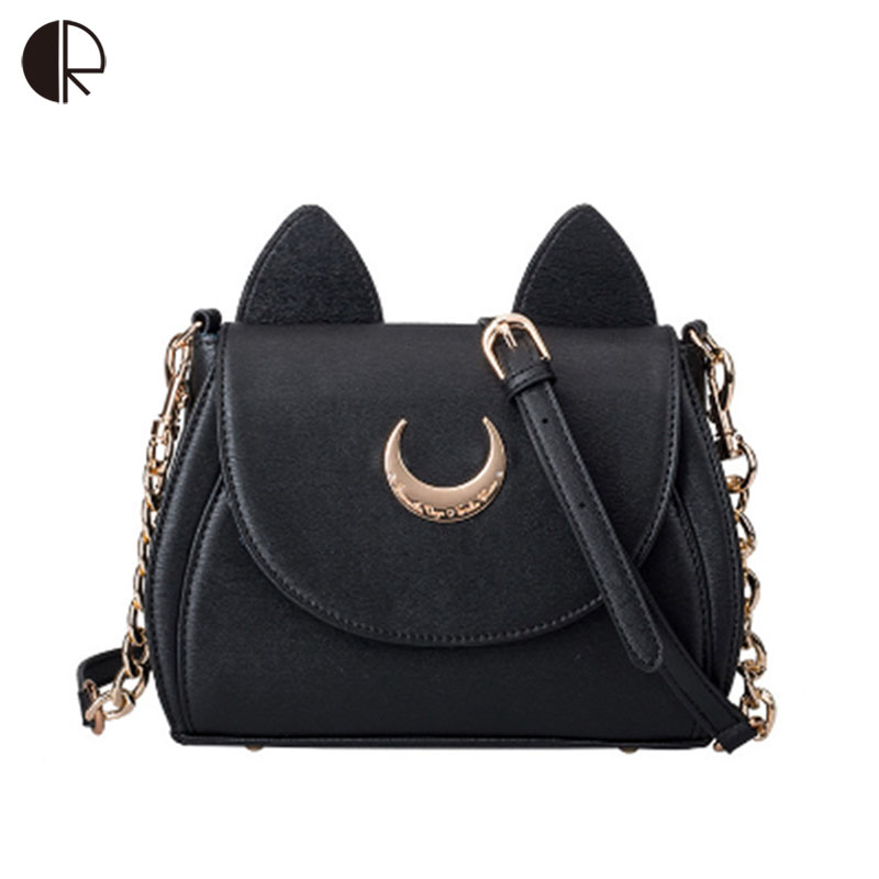 Hot Fashion Style Bags Famous Cute Design Women Messenger Bag Moon LUNA Vega Sailor Moon Bag Handbags Cat Shoulder Bags BS550
