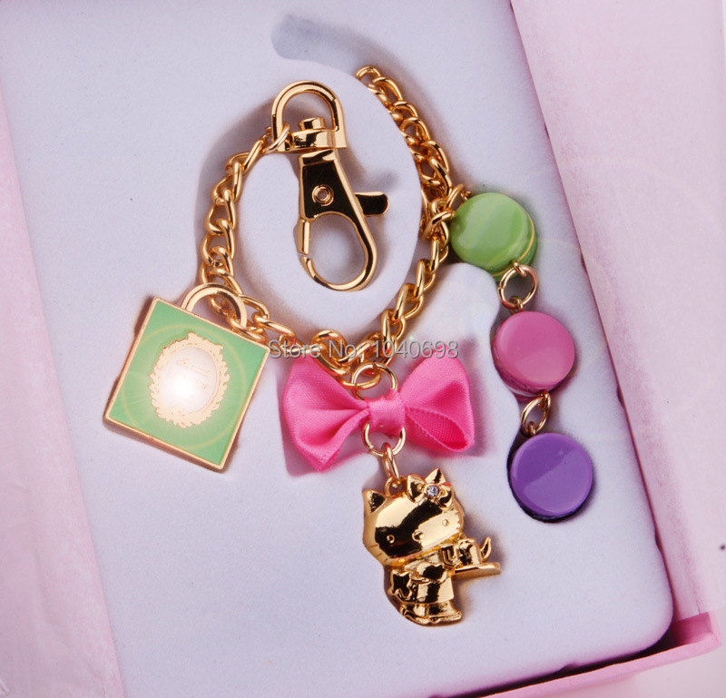 New Classic Lovers Laduree Hello Macarons Keychain Chain Bag Hanging Birthday Christmas Valentine s Mother s