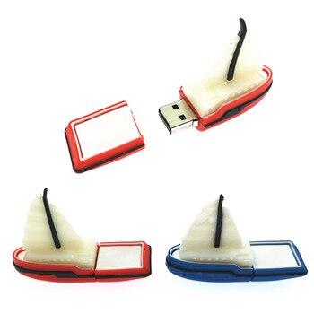 New USB Flash Drive Memory Flash Drive Sailboat Cartoon Steamship USB Stick 4GB 8GB 16GB 32GB Gift Pen Drive 64GB USB Drive