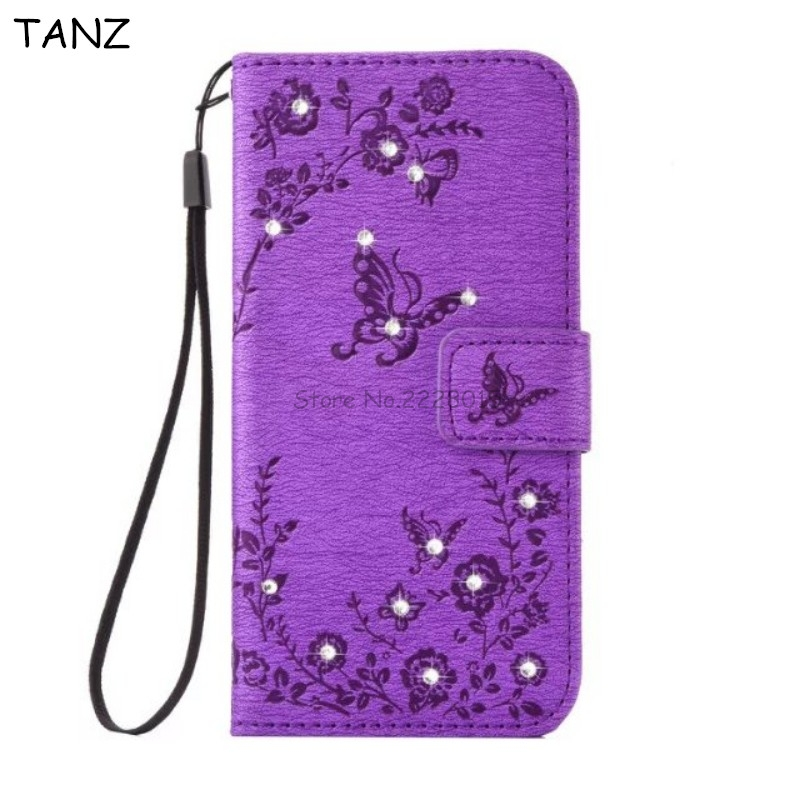 TANZ Vintage PU Leather Bling Diamonds Flip Cover Case For iphone 7 6 6S plus 7plus 6plus 6Splus Stand Function Phone Bag Funda