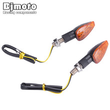 Bjmoto Universal LED Motorcycle M10 Amber Turn Sign lamp light motorbike motocross Signal Indicator