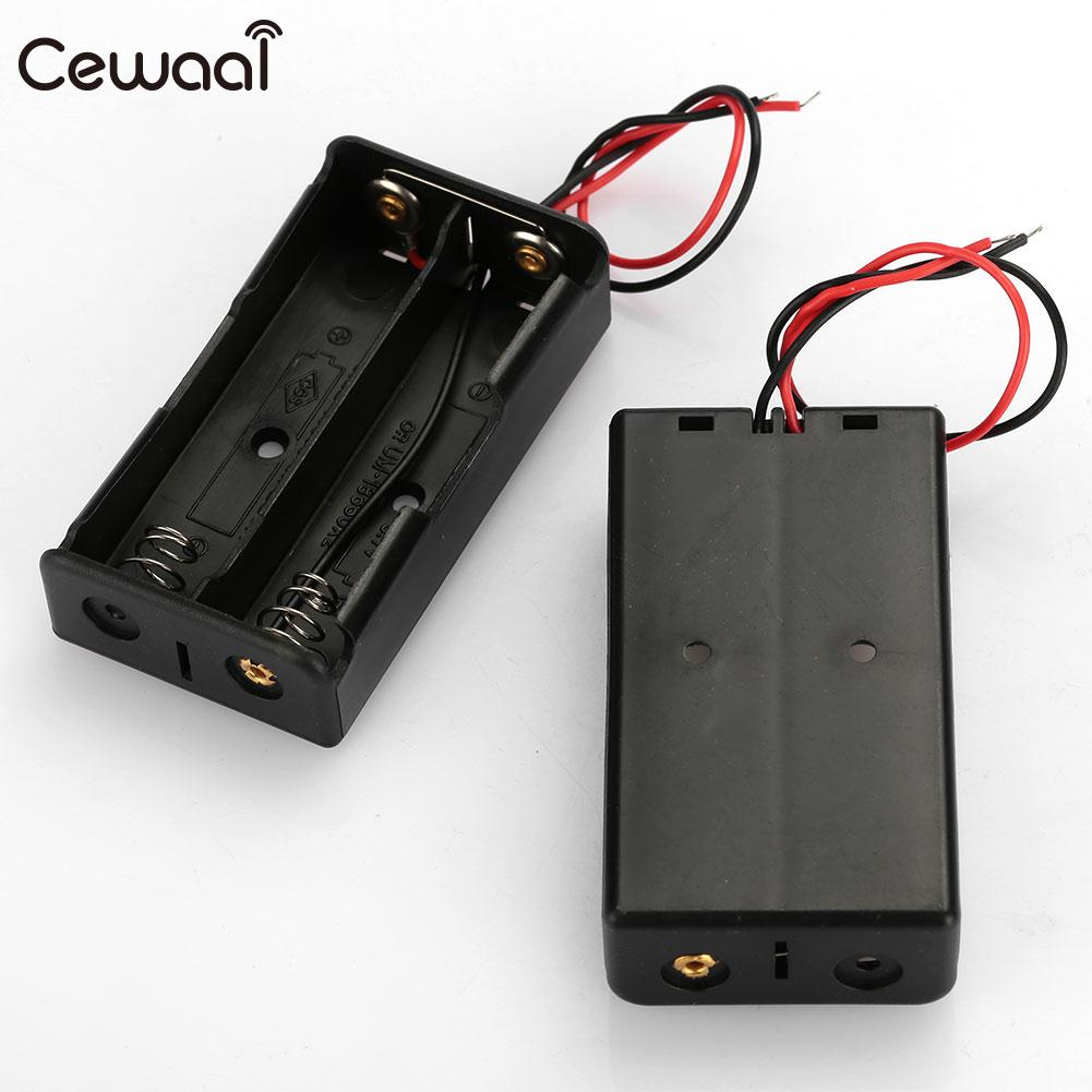 <font><b>Battery</b></font> <font><b>Holder</b></font> Durable <font><b>Battery</b></font> Case Spring Clip with Wire 2Pcs/Set <font><b>2X</b></font> <font><b>18650</b></font> <font><b>Battery</b></font> Parallel image