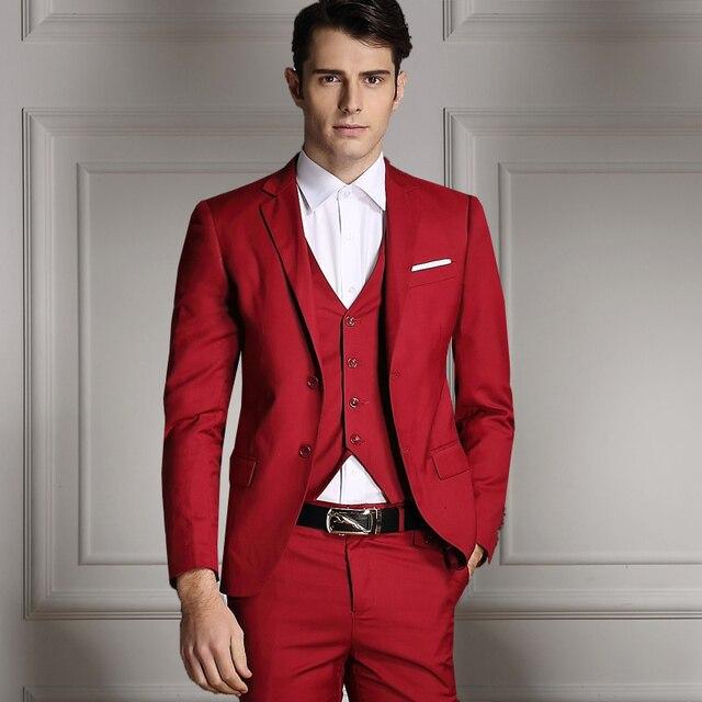 Slim Fit Men Suits Jacket Latest Coat Designs Formal Business Dress Solid Wedding Suits Groom Tuxedos Jacket+Pants+Vest