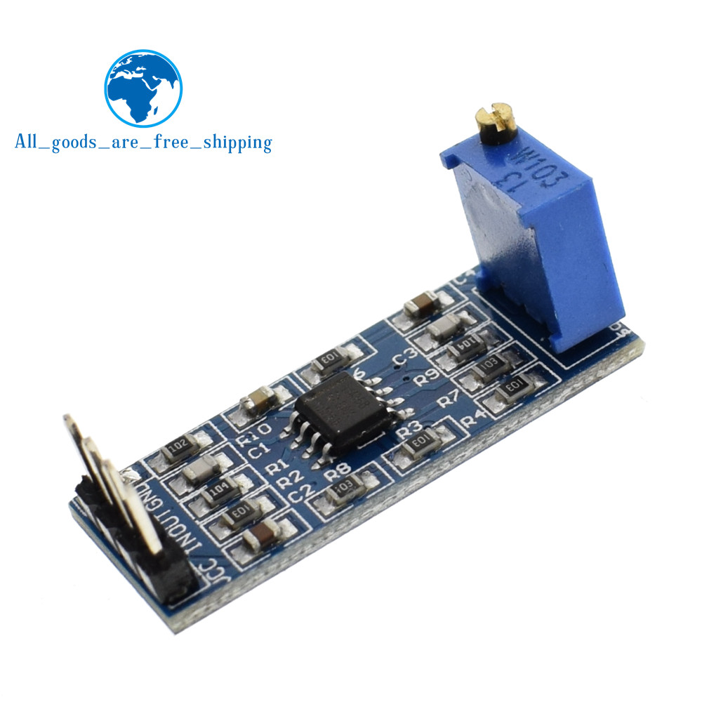 Lm358 100 Gain Signal Amplification Module Operational Amplifier Dc5