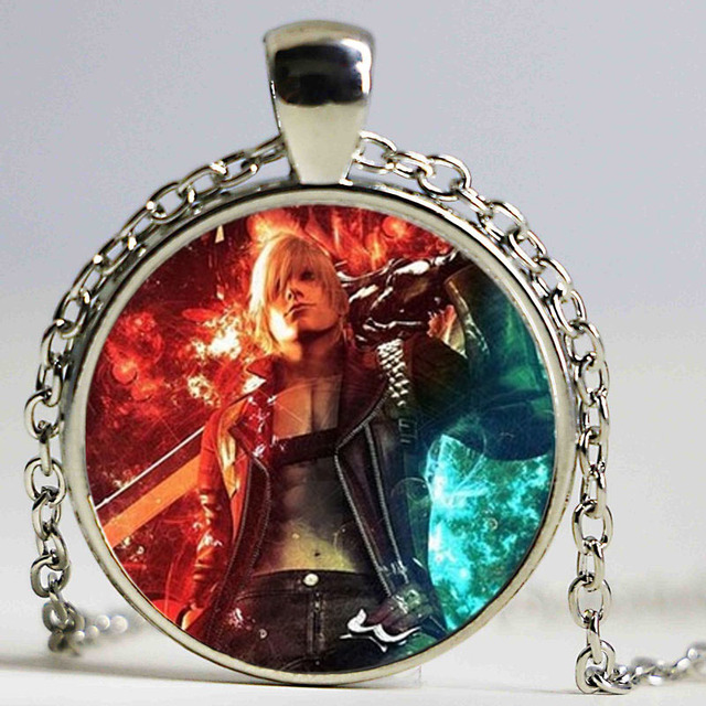 New anime game necklace dmc devil may cry 5 dante glass unisex new anime game necklace dmc devil may cry 5 dante glass unisex necklaces pendants chain man aloadofball Image collections
