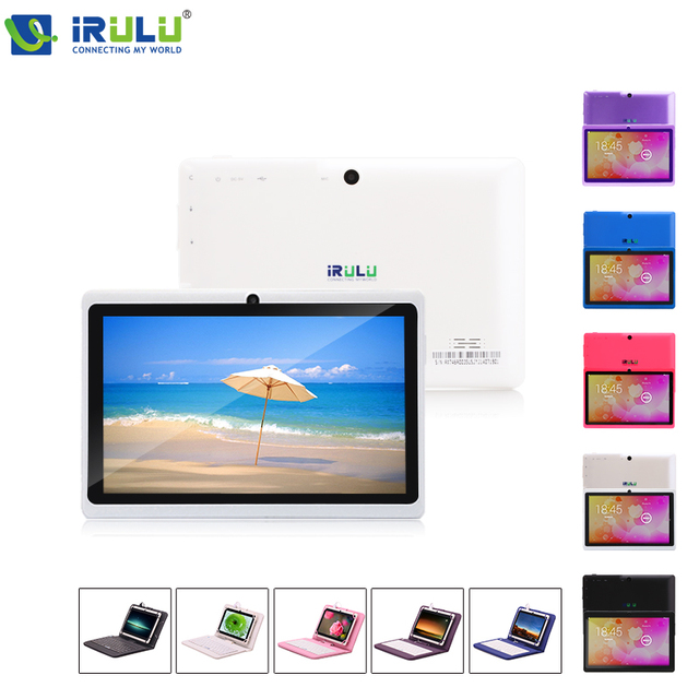 """iRULU eXpro X1 7"""" Tablet PC Quad Core 1024*600 HD Android 4.4 Tablet 16GB ROM Dual Camera Support OTG WIFI With EN Keyboard"""