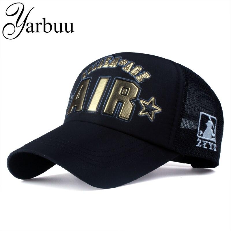 Prix pour [YARBUU] Marque casquettes de Baseball avec lettre de haute qualité Snapback Casual Caps pour hommes femmes nouvelle mode net cap d'été casquettes unisexe