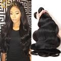 Mejor Peruana Virgin Hair Body Wave 3 Bundles Cabello Humano 100g 7A Peruana Del Pelo Barato Sin Procesar de la Virgen de la Onda Del Cuerpo Peruano pelo