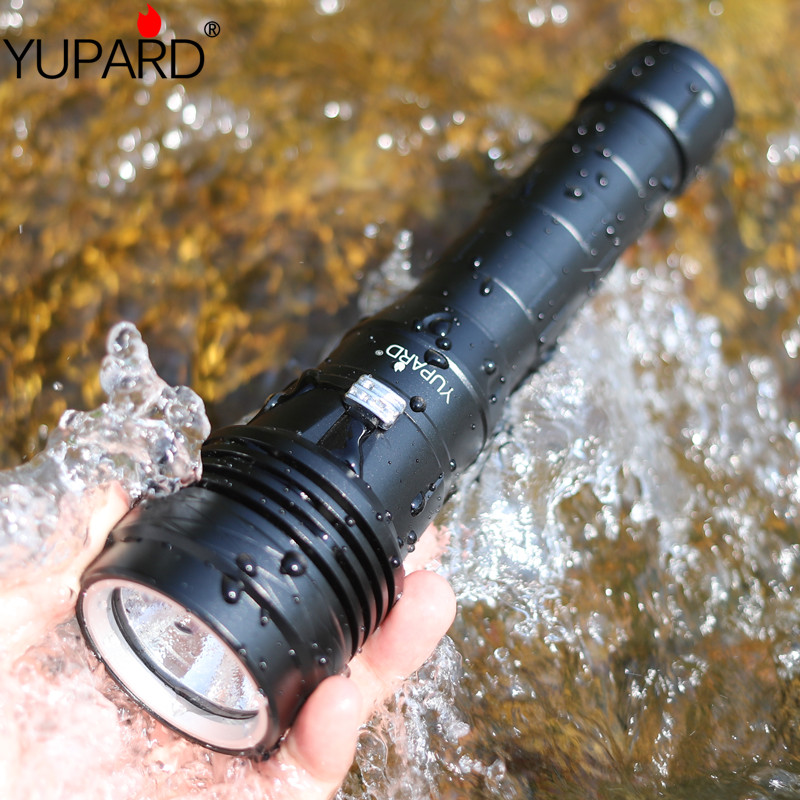 XHP 50 LED Flashlight underwater Ultra Bright scuba Diving torch 20000 Lumens waterproof fill light diver Flashlight lantern