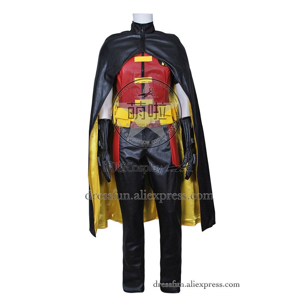 Молодые юстиции Косплэй Робин костюм полный комплект новые классные мыс наряды форма костюм комбинезон Хэллоуин Fashion Party Быстрая доставка