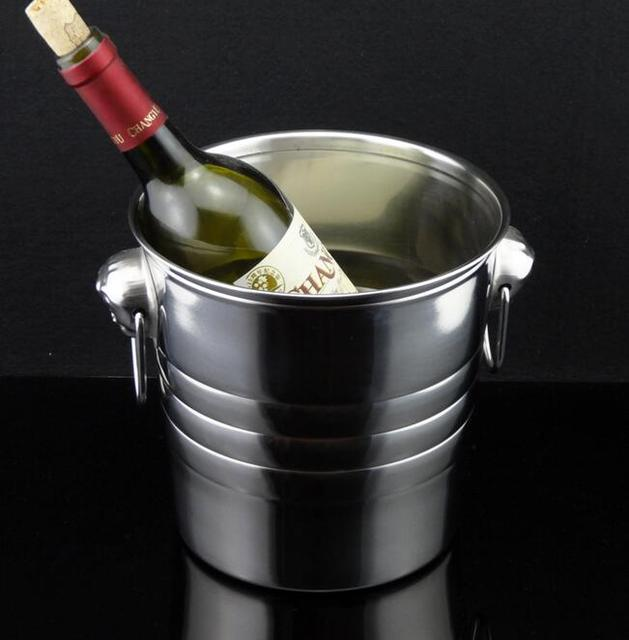 3L stainless steel ice bucket champagne/wine/beer/ice bucket with tiger head handles come with 1xtong on free gift