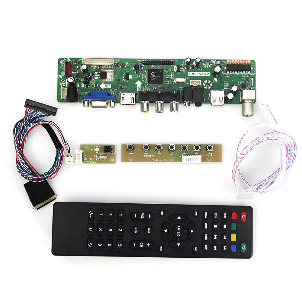 T.VST59.03 For N089L6-L02 B089AW01 V.1 LCD/LED Controller Driver Board (TV+HDMI+VGA+CVBS+USB) LVDS Reuse Laptop 1024x600 lcd led controller driver board for b156xw02 ltn156at02 t vst59 03 tv hdmi vga cvbs usb lvds reuse laptop 1366x768