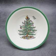 1 pcs classical Ceramic Christmas Tree Bowl Tableware Dessert bowl vegetable salad kitchenware Tool 6 inch Ramen