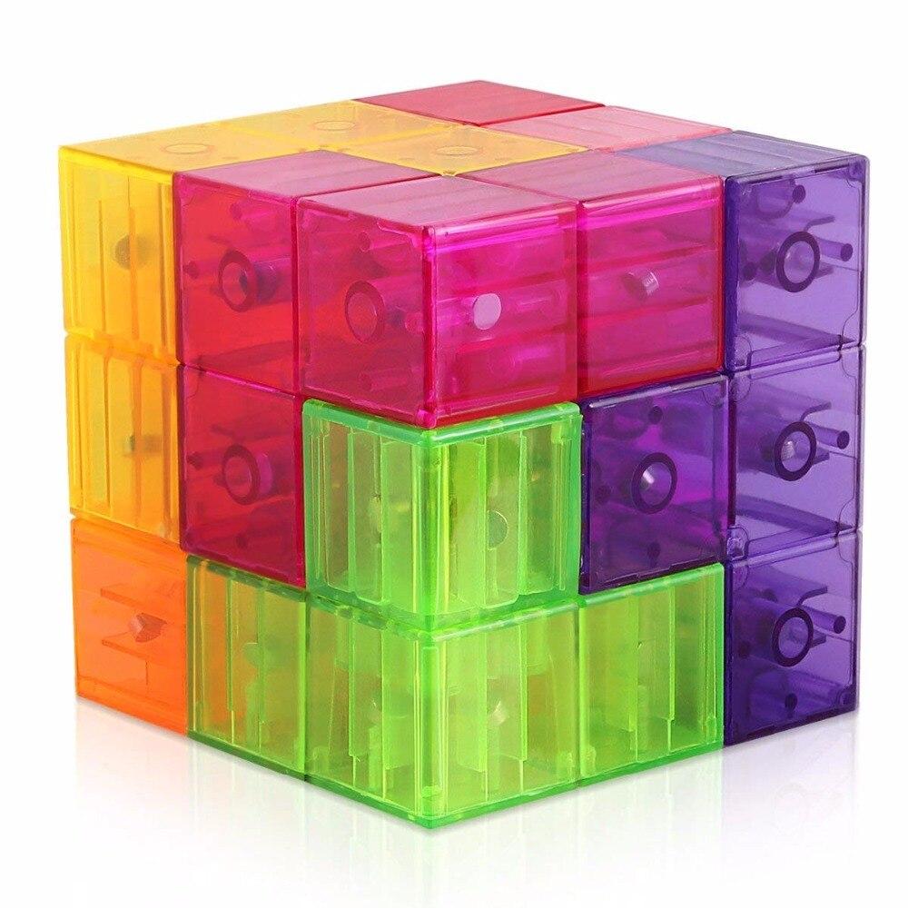 3x3 Magnetische Kubus Bouwstenen 3d Magneet Tegel 7 Pcs Set Puzzel Speed Cube 3x3x3 Met 54 Pcs Gids Kaarten Intelligentie Heilzaam Voor Het Sperma
