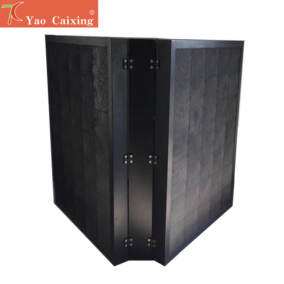 Free Shipping Yao Caixing Double Side Front Maintenance P6 Outdoor IP67 Smd Waterproof Iron Cabinet Led Matrix Display Screen