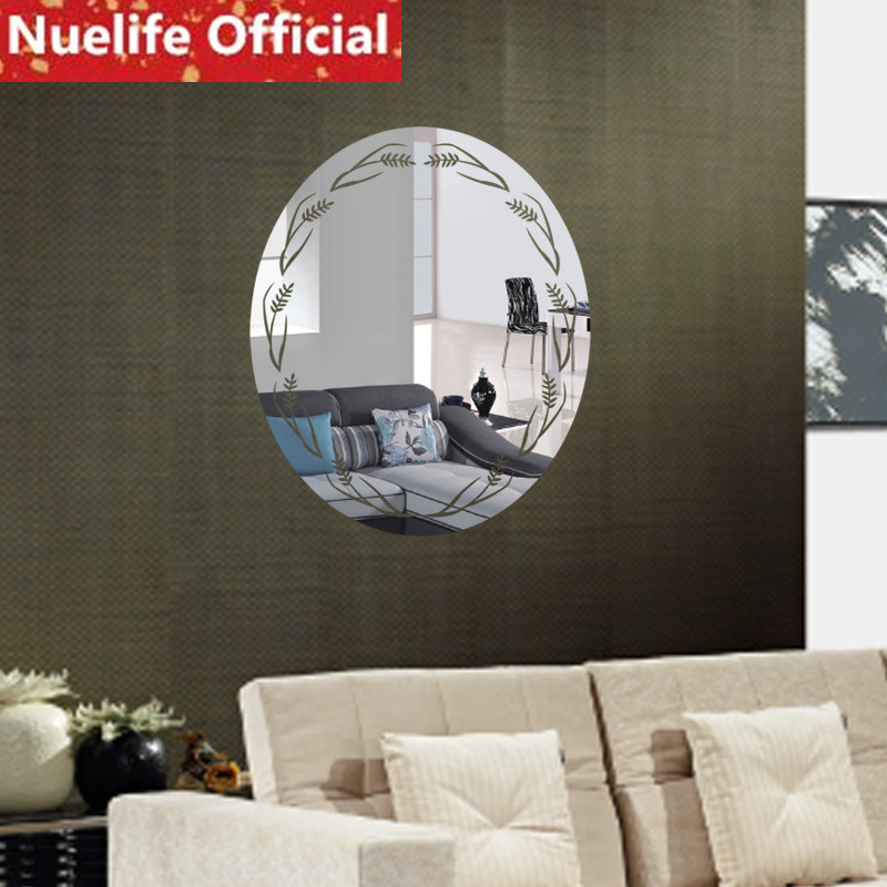 Elliptique plante design acrylique miroir stickers muraux salon chambre TV canapé porche fond décoration murale stickers muraux