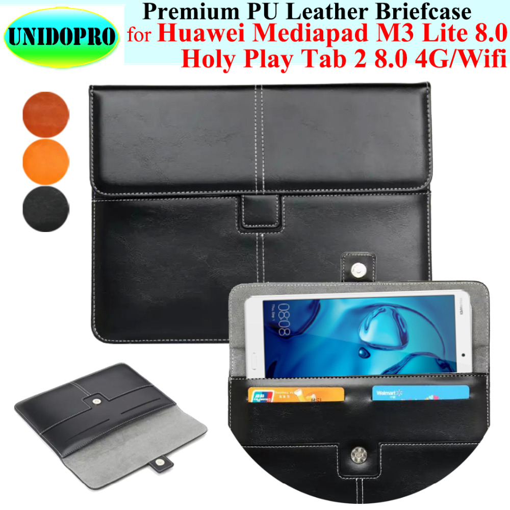 Premium PU Leather Case Briefcase for Huawei Mediapad M3 Lite 8.0 CPN-AL00 CPN-W09 , Holy Play Tab 2 8.0 4G WiFi Leather Cover coque smart cover colorful painting pu leather stand case for huawei mediapad m3 lite 8 8 0 inch cpn w09 cpn al00 tablet