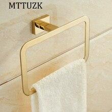 MTTUZK золотой нержавеющей стали хром ванной площадь кольца для полотенец ванной полотенце аппаратных кулон Вешалка Для Полотенец Аксессуары Для Ванной Комнаты