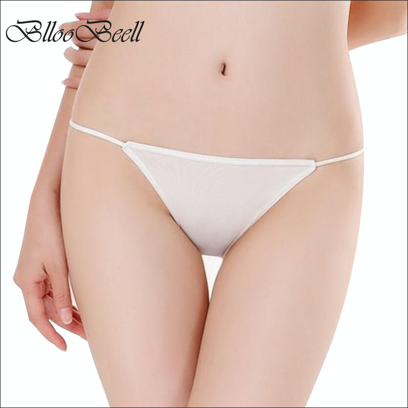 BllooBeell Solid Low Waist Women's Underwear   Panties   Sexy Lady Briefs Bikini Female Thong Seamless G String Silky Soft Size M/L