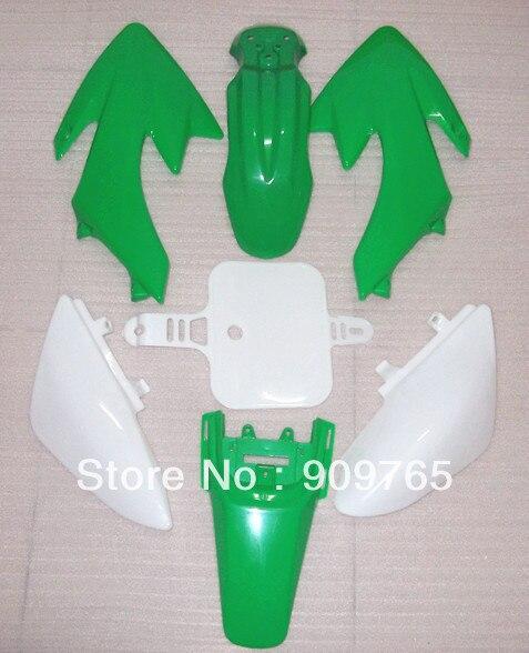 Бесплатная доставка Новый зеленый пластмассовый комплект крыло для Хонда ОФД 50 ХС 50 XR50 70 CRF50 Байк велосипед ямы