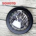 Vintage Motorrad Scheinwerfer Matte Schwarz Birne kopf licht mit LED chips Um Motorrad Front licht/lampe