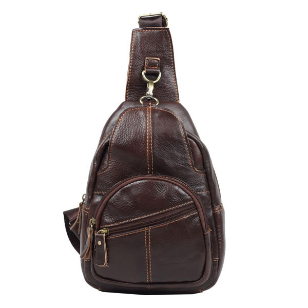 Genuine leather casual male women's chest pack man bag messenger bags for men shoulder bags