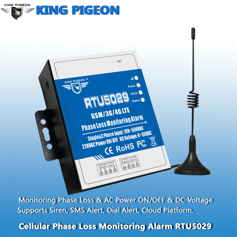 GSM 3G 4G LTE 3 Phase Loss Monitoring Alarm Power Failure Status Value Monitoring support Modbus TCP RTU5029A-in Alarm System Kits from Security & Protection    2