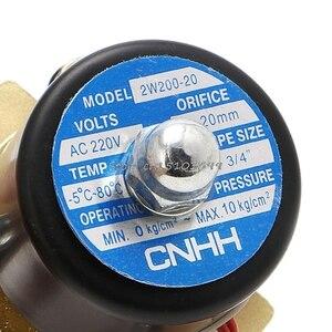 """Image 4 - 3/4 """"gás pneumático 2w 200 20 # h028 do ar do óleo da água do porto da válvula solenóide elétrica de 220v 2 #"""