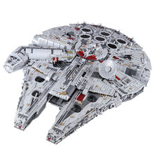 H&HXY IN STOCK LP 05132 8445pcs Compatible 75192 Star Plan Series Ultimate Collectors Model Building Block Bricks Christmas Toys lepin 05132 star destroyer millennium falcon compatible with legoinglys 75192 bricks model building blocks