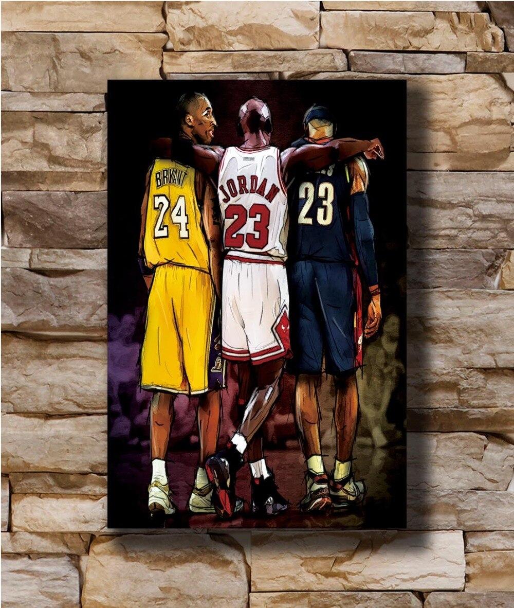 N1713 Michael Jordan Kobe Bryant Lebron James Great Star