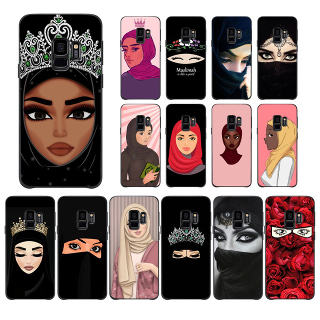 Muslim Islamic Gril Eyes Woman In Hijab Face phone Case For Samsung Galaxy s9 s8 plus note 8 note9 s7 s6edge cases Babaite