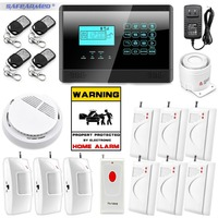 IOS Android APP Touch Screen Panel+LCD Display Wireless GSM Home Security Burglar Smart Magnetic Android APP Alarm System